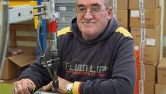 Zufrieden: Ernst Schallenberg lebt und arbeitet heute in der Stiftung MBF in Stein.