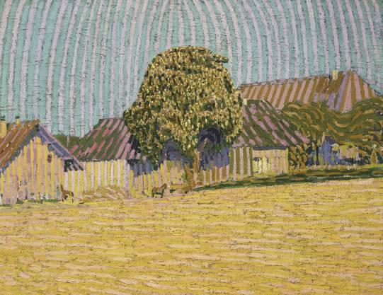 «Dorflandschaft mit blühendem Baum» von Cuno Amiet (1905)