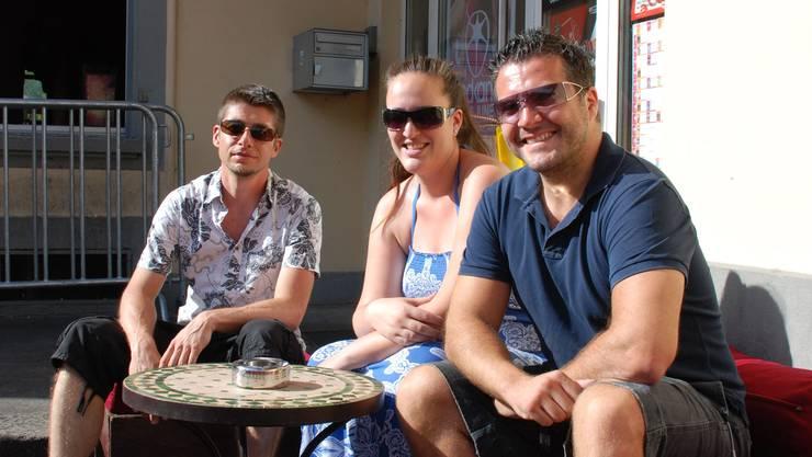 Christian Hosmann, Tanja Krajlevic und George Antoniadis kämpfen ihn ihren Clubs mit den gleichen Sicherheitsproblemen. (Bild: Irena Jurinak)