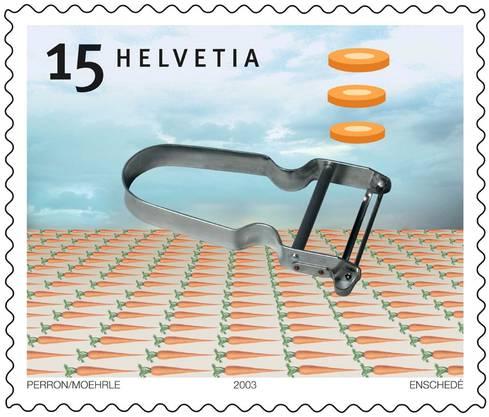 2004 ziert das Haushaltgerät eine 15-Rappen Briefmarke der Schweizerischen Post und hat damit zusaätzliche Bekanntheit erlangt.