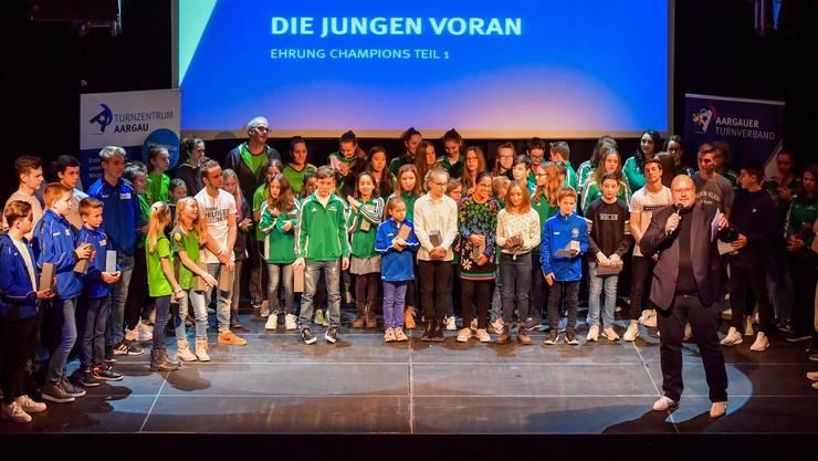 Für genügend Nachwuchsturnerinnen und -turner ist im Aargau gesorgt. An der Champions Night werden die jungen Talente gefeiert und ausgezeichnet.