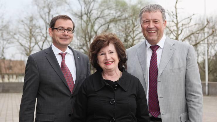 Daniel Heller (links), Katharina Kerr und Andreas Brunner.