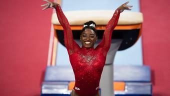 Simone Biles durfte sich über ihre 17. WM-Goldmedaille freuen