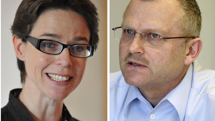Beide haben dasselbe Ziel: Wirtschaftsförderin Karin Heimann und Roland Simonet, Leiter des Gründerzentrums, wollen dem zarten Nachwuchs, sprich Jungunternehmer, zum Wachstum verhelfen