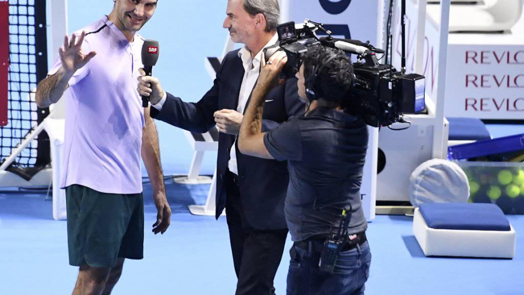 Als SRF-Tennisexperte hat Heinz Günthardt die Schweizer Ikone Roger Federer schon x-mal interviewt