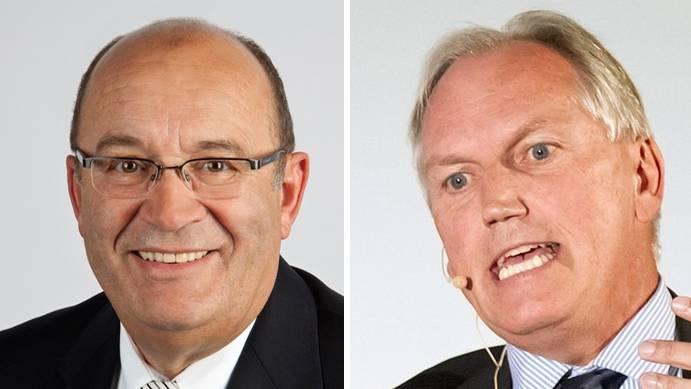 SVP-Nationalrat Christian Miesch (l.) und ex-Botschafter Thomas Borer