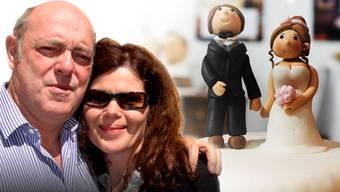 Schweben im Liebesglück und geben sich bald das Ja-Wort: SVP-Nationalrat Ulrich Giezendanner und seine Roberta.