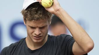 Vor einem Jahr Finalist, jetzt Erstrundenverlierer - das kostet Yannick Hanfmann (ATP 99 im Ranking rund 40 Plätze