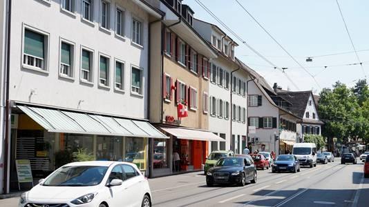 Durchgangsverkehr in Riehens Zentrum. (Archivbild)