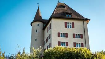 Die Liebegg steht auf einem Hügelsporn hoch über dem Wynental, zwischen Gränichen und Teufenthal.