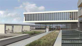 Visualisierung: So sieht die Terrasse der Rehaklinik Bellikon nach dem Umbau/Neubau im Jahr 2017 aus.