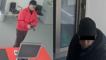 Die beiden Männer wurden beim Überfall auf die Raiffeisenbank in Deitingen gefilmt. (Archiv)