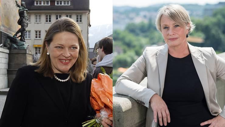 Heidi Z'graggen (links) und Elisabeth Schneider-Schneiter kandidieren.