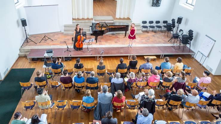 Young Composer Projekt bei der Aufführung in der Alten Kirche in Boswil