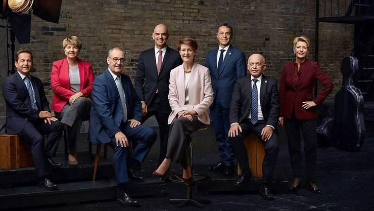 Das offizielle Bundesratsfoto 2020. Eigentlich hätte es ganz anders aussehen sollen.
