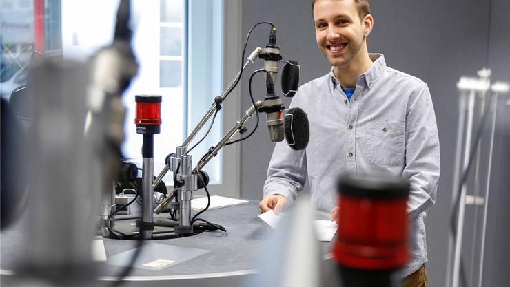Der Mann mit der neuen Nachrichten-Stimme: Der Grenchner Kevin Cahannes (34) lebt und arbeitet in Bern.