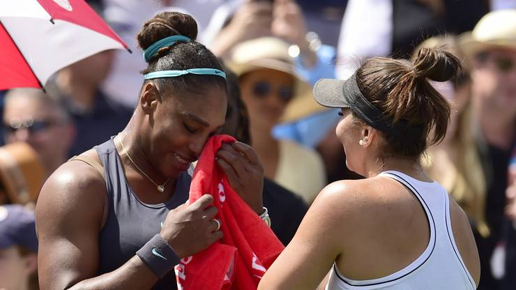 Serena Williams musste im Final von Toronto wegen Rückenbeschwerden aufgeben.