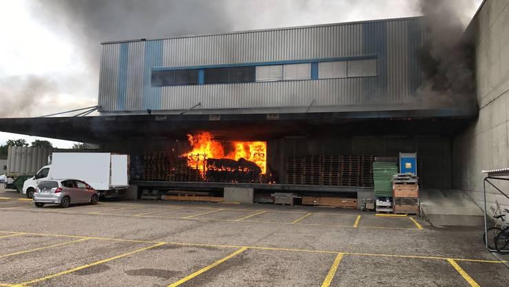 Der Brand brach im Grüssen-Gebiet aus.