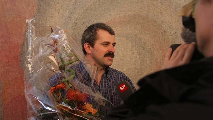 Roland Helfenberger war 2006 in Aesch ein begehrter Gesprächspartner.