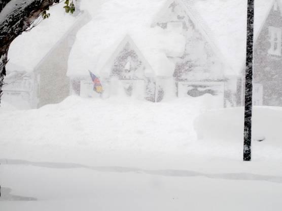Tiefster Winter in Buffalo im Bundesstaat New York