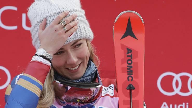 Mikaela Shiffrin war im ersten Durchgang klar die Schnellste