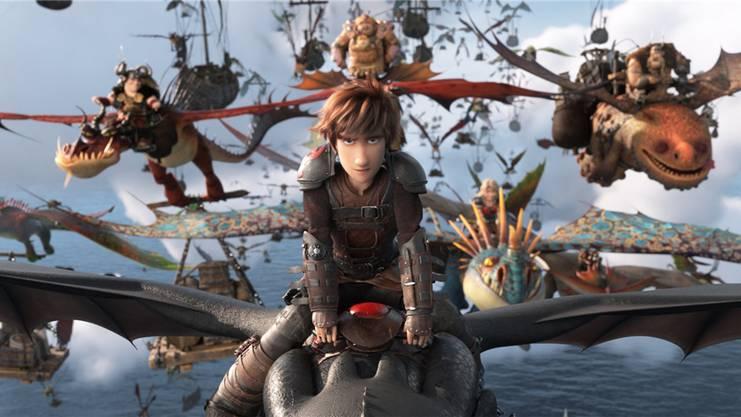 Szene aus dem dritten Teil von «How To Train Your Dragon».