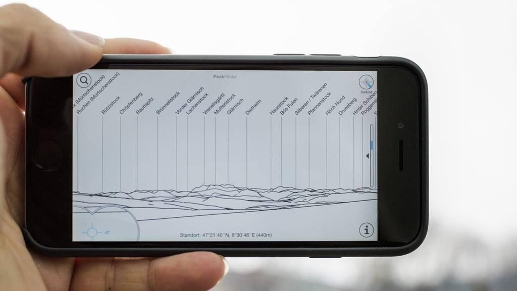 Die App Peakfinder funktioniert mit Augmented Reality.