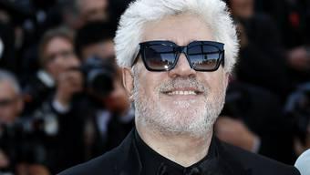 Diesjähriger Jury-Präsident des Cannes-Filmfestivals, Pedro Almodovar, bei seiner Ankunft zur Eröffnung des Filmreigens