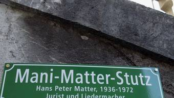 Nach dem kleinen Mani-Matter-Stutz in Bern soll in Wabern ein ganzer Platz nach dem Berner Liedermacher benannt werden.