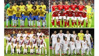 Gruppe E: Brasilien, Schweiz, Costa Rica, Serbien