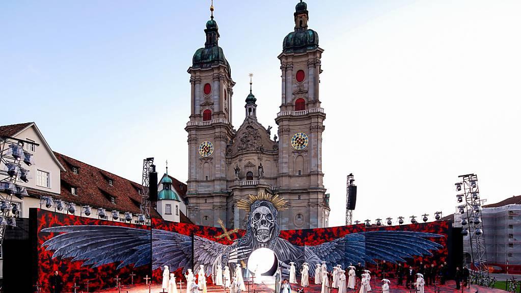 Die St. Galler Festspiele dürfen ab 2023 nur noch alle zwei Jahre stattfinden. Ob der Klosterplatz der alleine Standort bleibt, ist noch offen. (Archivbild)