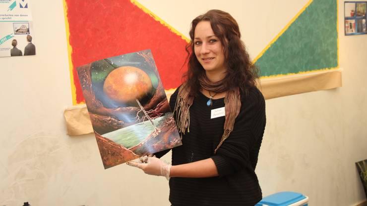 Sabrina Bardellini mit einem ihrer Bilder