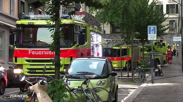 Büro von evang. Gesellschaft in Flammen
