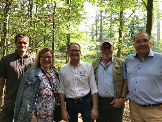 V.l.n.R. Armin Gloor (Gemeinderat Dintiken), Sabina Vögtli (Gemeindeammann Henschiken), Rolf Jäggi (Präsident & Gemeindeammann Egliswil), Klemenz Hegglin (Vizeammann Villmergen), Jörg Bruder (Gemeindeammann Seengen)