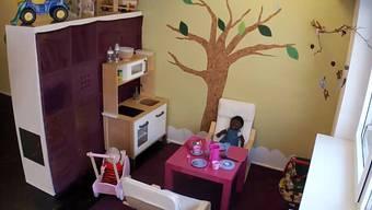 Aufnahme der Webcam in der Kinderkrippe «Hoi Gömper».