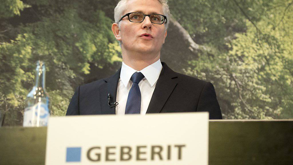 Geberit-Chef Christian Buhl kann sich über einen Gewinnsprung im ersten Halbjahr freuen. (Archiv)