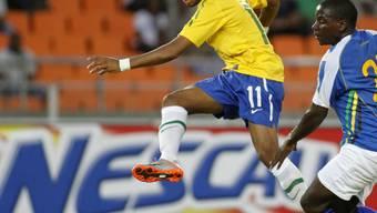 Brasiliens Robinho traf im Test gegen Tansania zweimal