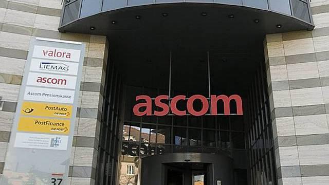 Vor dem Ascom-Hauptsitz (Archiv)
