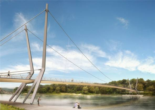 Bleibt eine Visualisierung: Der Rheinsteg wird nicht gebaut