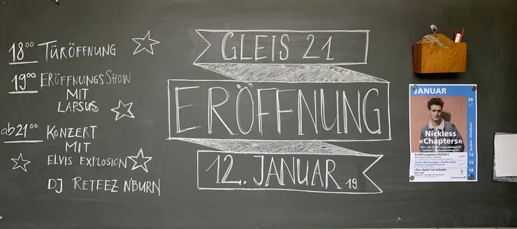 Erste Details vom Programm am 12.Januar sind bereits auf dem Bild zu erkennen