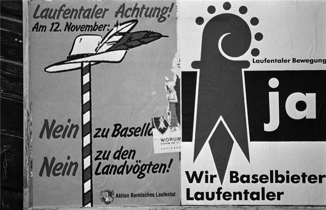 Plakate wie diese hingen im Herbst 1989 im ganzen Laufental.