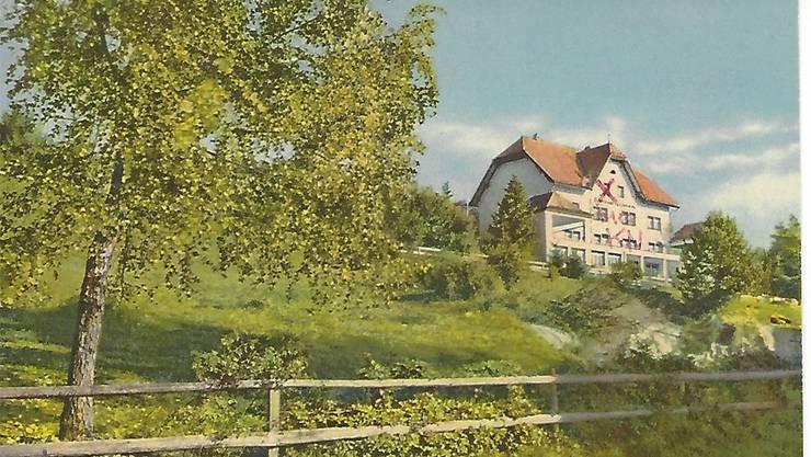 Historische Illustration des Ferienheims.