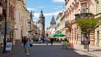 Fussgängerzone in der historischen Altstadt von Kosice (Archiv)