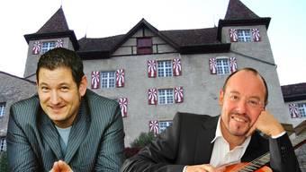 Tenor Matthias Aeberhard und Gitarrist Michael Erni auf Schloss Wartenfels.