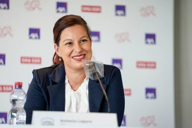«Wir wollen Gas geben!» Antonia Lepore, Marketing- und Kommunikationschefin der Axa, verspricht eine umfangreiche Unterstützung des Schweizer Frauenfussballs.