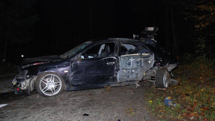 Ein Autolenker verlor die Kontrolle über sein Fahrzeug