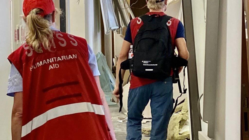 Schweiz entsendet zweites Expertenteam nach Beirut