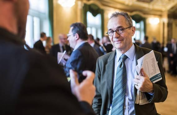 Tim Guldimann am Empfangstag der neu gewählten Ratsmitglieder im November 2015.