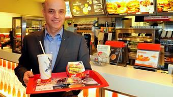 Mario Federico leitet McDonald's Schweiz.  paolo foshini