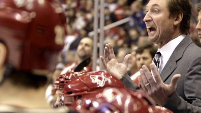 Wirds bei Olympia 2010 nicht geben: Wayne Gretzky an der Bande
